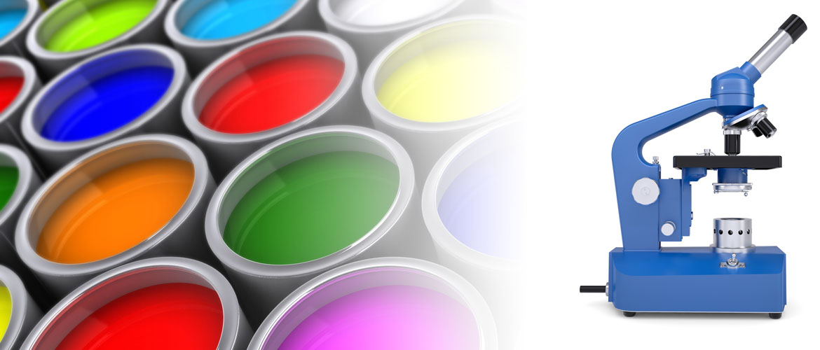 Colourful Paint Cans & Microscope